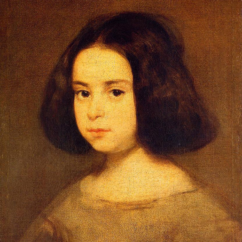 Scaled diego velazquez portrait of a little girl