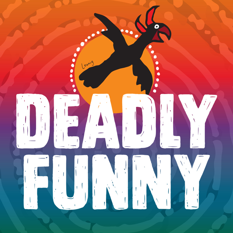 Scaled deadly funny logo