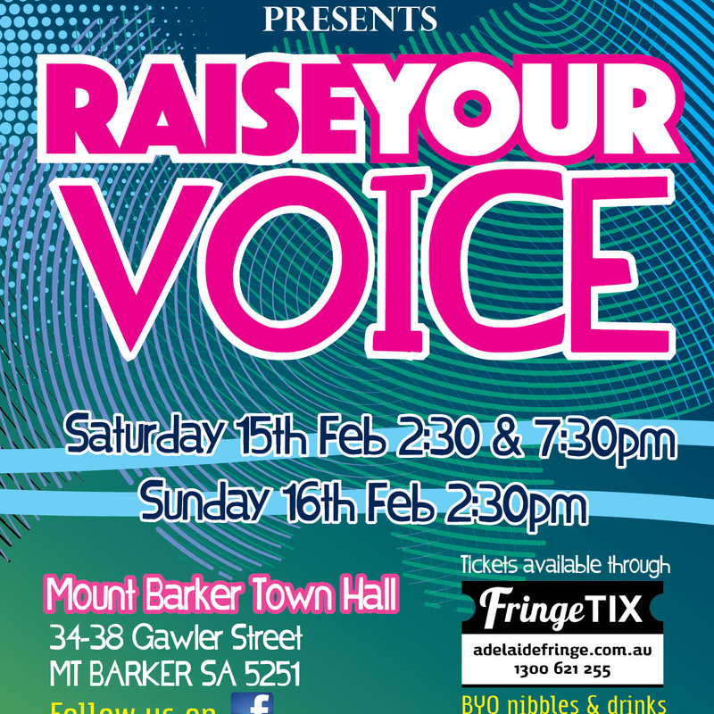 Scaled raise your voice a4 poster