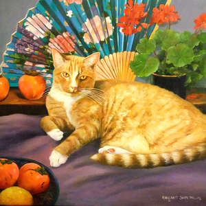 Thumb marmalade eddie   oil on canvas   40 cm x 40 cm   margaret slape phillips   copyright