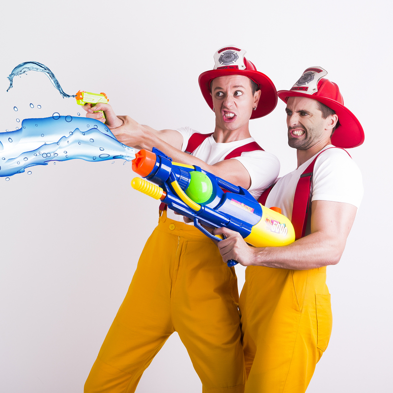 Scaled the circus firemen water pistols mid size   photograher angel leggas