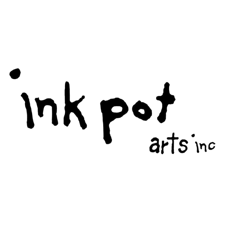 Scaled inkpot logo black square
