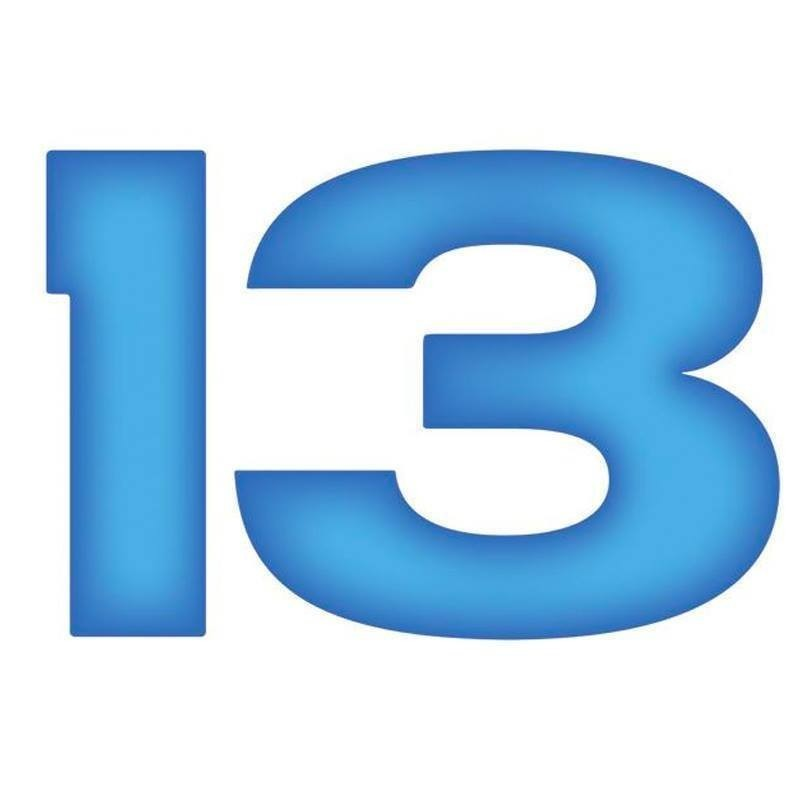 13 the Musical - A graphic of the number thirteen (13) in blue font on a white background.