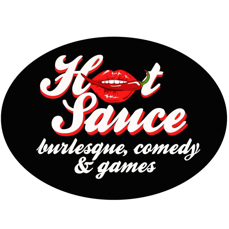 Scaled hot sauce burlesque show logo