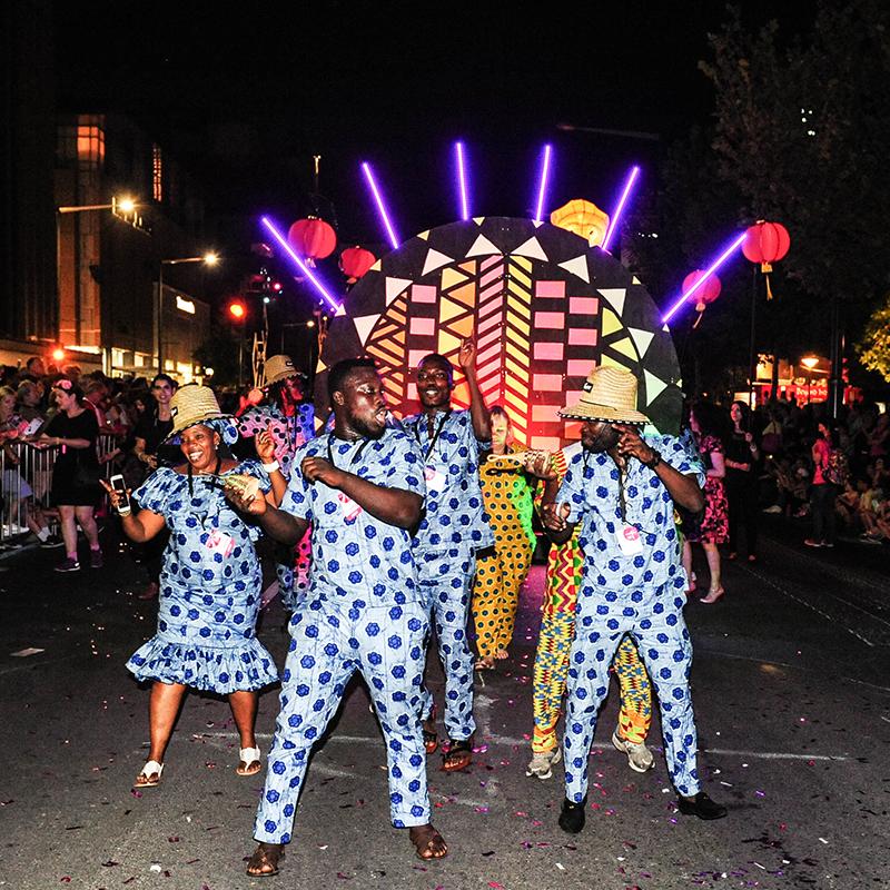 Scaled fringe parade