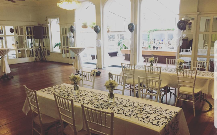 Scaled balcony   function with table runner