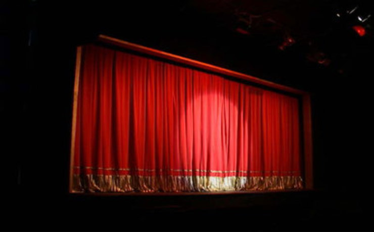 Scaled theatre one curtain